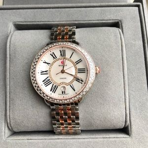 Michele Serein Rose Gold Diamond Watch